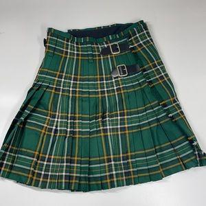 J. Higgings LTD 100% Pure Wool Green Plaid Scottish Kilt